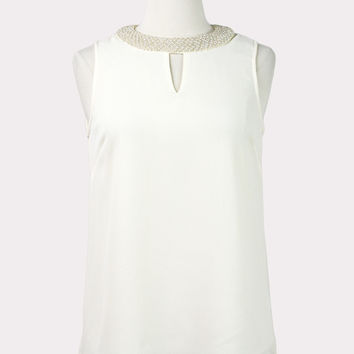 Irene Pearl Collar Top