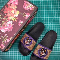 Gucci Leather Slide With Bow Fashion Style 3