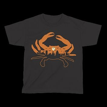 Spooky Skyline Crab / *Youth* Shirt