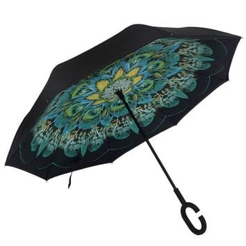 New Colorful Flowers Umbrella Awning Parapluie Paraguas Parasol Guarda Chuva Umbrella Reverse Women And Men Travel Umbrella-001