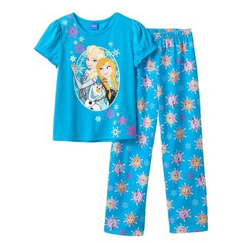 Disney Frozen Elsa, Anna & Olaf Pajama Set - Girls, Size: