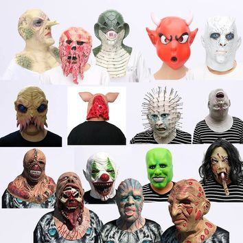 Scary Mask Halloween Horror Maske Skull Zombie Vampire Face Mask latex Bloody skull cosplay Costume Accessory Fancy Party Prop