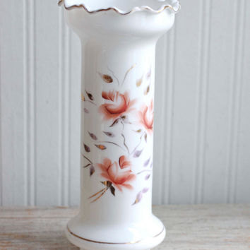 Chimney Oil Lamp Shade - Vintage Roses Shabby Chic