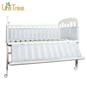 LifeTree Breathable Mesh Crib Bumpers Baby Bedding 3 Layer Crib Liner Cot Bed Around Protector