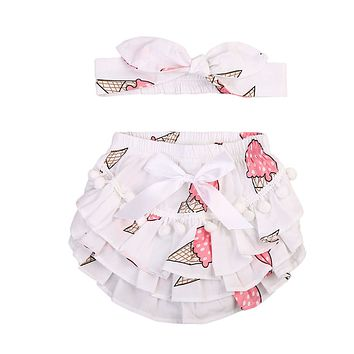 Newborn Kids Baby Girls Clothing Ruffle Shorts Nappy Diaper Cover Ruffles Cute Bloomers Shorts Panties Clothes Baby Girl