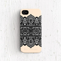 Lace iPhone 5c case lace print iPhone 5s case black lace iPhone 4 case simple iPhone 4s case feminine iPhone 5 case beige geometric c231