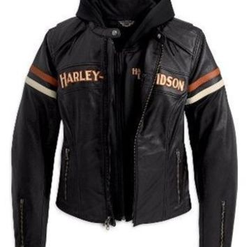 Harley-Davidson Women's Miss Enthusiast 3-in-1 Leather Jacket. 98142-09VW