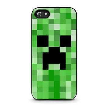 creeper minecraft 2 iphone 5 5s se case cover  number 1