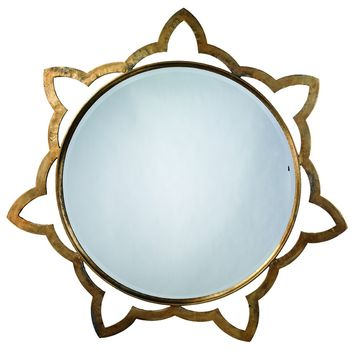 Jamie Young Co. Sante Mirror - Brass | New Mirrors | What's New! | Candelabra, Inc.