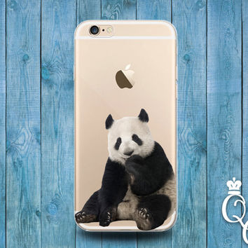 iPhone 4 4s 5 5s 5c SE 6 6s 7 plus iPod Touch 4th 5th 6th Gen Clear Cover Custom Baby Asian Panda Bear Cub Cute Cool Transparent Phone Case