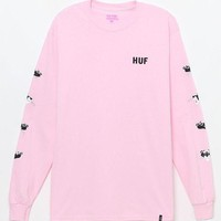 VONE05W HUF x Pink Panther Heads Long Sleeve T-Shirt