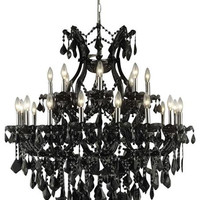 Karla - Hanging Fixture (24 Light Traditional Hanging Crystal Chandelier) - 2380D36
