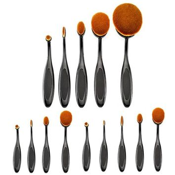 10pcs Toothbrush Shape Foundation Makeup Brushes Set Cosmetic Big Oval Brush Tool