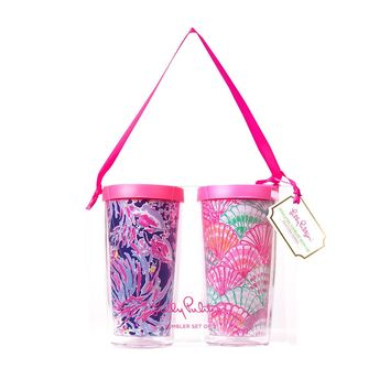 Tumbler Set {Oh Shello + Shrimply Chic} - Lilly Pulitzer