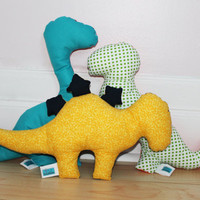Dinosaur decorative pillows, set of 3 Dino plush, cushions, Softies, Nursery decor, Baby shower gift, Baby toy, Toddler, Kid, Child birthday