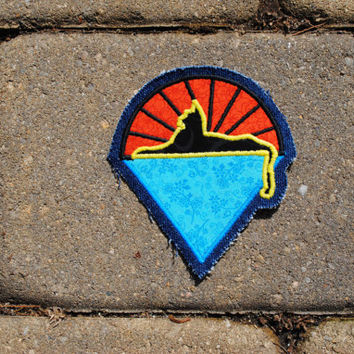 Grateful Dead Patch Jerry Garcia Band Cats Under the Stars Patch Handmade Applique Sew-On Patch ooak