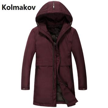 2017 Men's winter jackets casual 90% white duck down down coats Men cotton-padded jacket trench coat man hooded down jacket