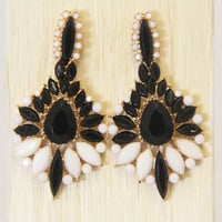 Black Cosmos Earrings