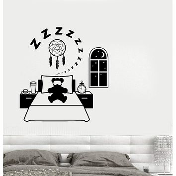 Wall Decal Dream Catcher Children's Room Night Toy Vinyl Sticker Unique Gift (ed581)