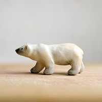 Animal Totem White Polar Bear, polar bear totem figurine, white home decor, tiny zoo, wild animals, woodland, gift for bear lovers