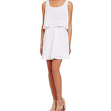 GB Popover Swing Dress - White