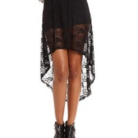 Floral Lace Hi-Low Skirt: Charlotte Russe