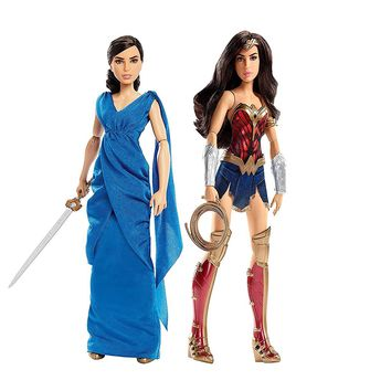 "Mattell® Barbie® Wonder Woman 2-PACK, DC Diana Prince 12"" Action Figure Doll Collection"