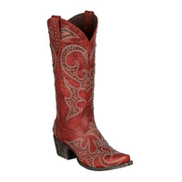 Lane Boots - Lovesick Stud Red