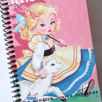 Nursery Rhyme Notebook Little Bo-Peep Journal Spiral Bound vintage