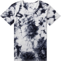 White/Black Tie-Dye S/S Pocket Tee
