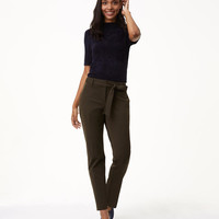 Slim Tie Waist Custom Stretch Pants in Julie Fit | LOFT