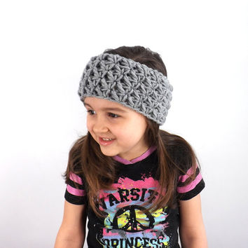 Textured Kids Headband /OXFORD/, Girls Ear Warmer, Children Hair Band, Gift Idea