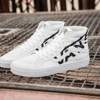 Best Deal Online Vans SK8-Hi White High Top Men Flats Shoes Canvas Sneakers Women Sport Shoes