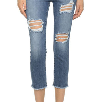 KORAL Denim Slant Pocket Crop Jeans | Tides | Sale