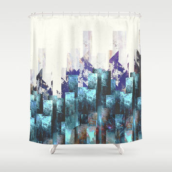 Cold cities Shower Curtain by HappyMelvin