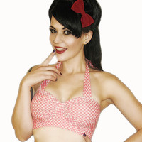 DIXIE Retro Country Gingham Bikini Top Pick Your by MySugarDoll