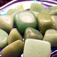 "AVENTURINE ""Indian Jade"" Lucky Talisman of Prosperity, Wealth Leadership & Career Success ""Stone of Opportunity"" Alleviates Stress and Doubt"