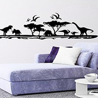 Dinosaurs Landscape Wall Decal Prehistoric Vinyl Stickers Decals Home Decor Animal Wall Vinyl Decal Nursery Bedroom Decor C541