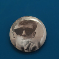 """The Breakfast Club Smoking Glasses Weed Brian Johnson 80's Movie 1"""" Pinback Button"""