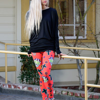 ULTRA SOFT PRINT LEGGINGS SUGAR SKULL IN RED