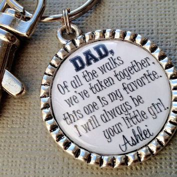FATHER of the BRIDE gift- PERSONALIZED - walking daughter down aisle, first man I ever loved, I love you today, tomorrow, thank you gift