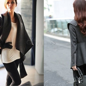 Women's Boyfriend Style Wool Long Trench Warm Slim Jacket Coats Overcoat Outwear SV005043 = 1651241604