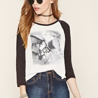 Camera Graphic Baseball Tee