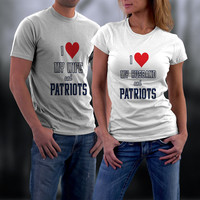 Patriots, New England Patriots Couples Shirts, Personalized Couple Shirts. Ladies and Men Tshirt