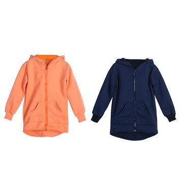 Baby Infant Toddlers Cute Cartoon zipper Clothes Coat Long Sleeve Solid Hoodie Costume Casual Wear Chrismas Gift
