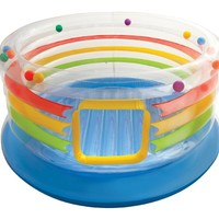 """Intex Jump-O-Lene Transparent Ring Inflatable Bouncer, 71"""" X 34"""", for Ages 3-6"""