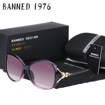BANNED 1976 luxury women polarized fashion Sunglasses new uv protection Fox feminin sun Glasses vintage with box