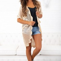 July Nights Crochet Cardigan (Vanilla)