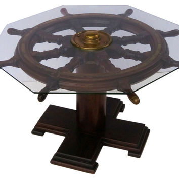 English Ship's Wheel Coffee Table