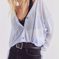 Cooperative Sheer Cropped Cardigan   Urban Outfitters